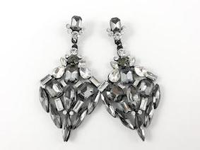 Stylish and Modern Design Pewter Color Fashion Earrings