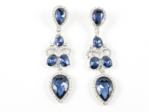 Classic Elegant Sapphire Dangling Fashion Earrings