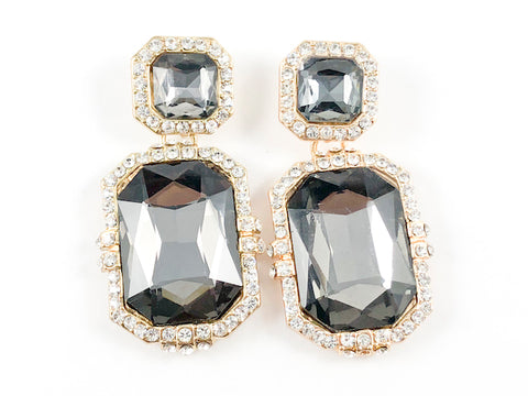Fancy Square & Rectangular Shape Drop Fashion Earrings