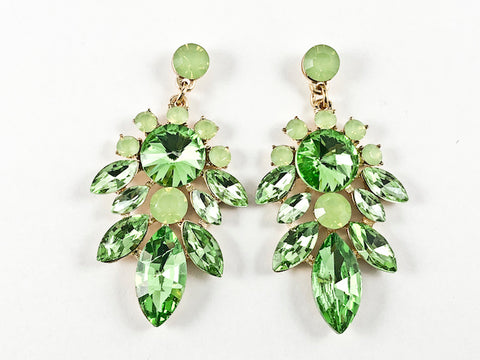 Fancy Stylish Nature Style Design Drop Green Fashion earrings