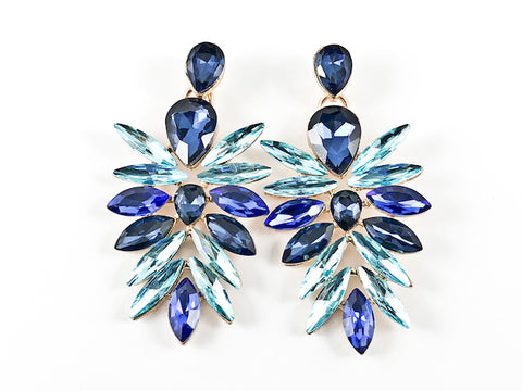 Fancy Stylish Leaf Style Form Multi Color Drop Fashion Earrings