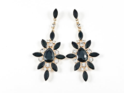 Fancy Stardust Design Black Color Dangle Fashion Earrings