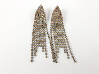Fancy Brown Color Multi Strand Chandelier Earrings