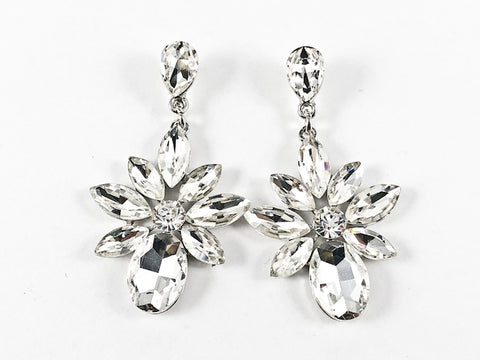 Fancy Diamond Stardust Shaped Drop Fashion Earrings