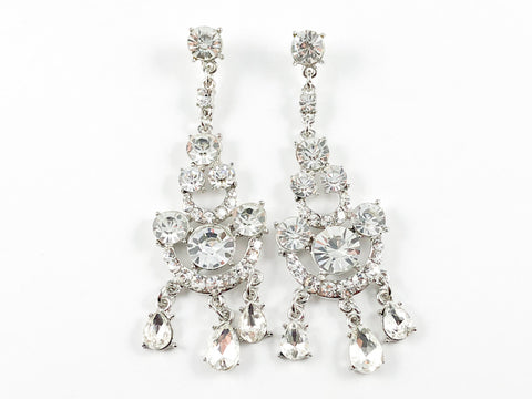 Clear Fancy Chandelier Earrings