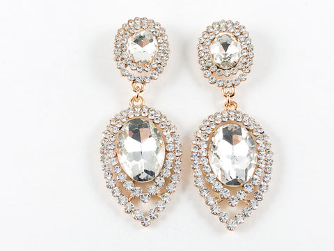 Fancy Elegant Oval Drop Fashion Earrings