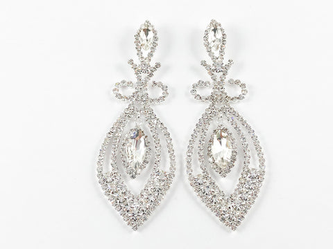 Fancy Elegant Marquise Design Fashion Earrings