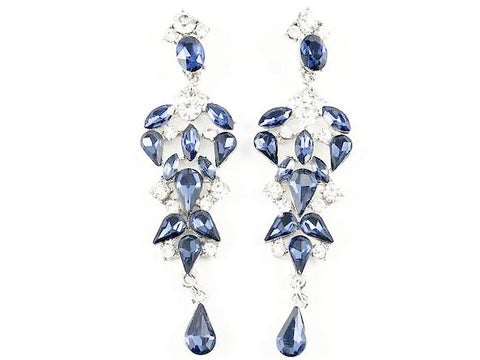 Fancy Pear Shape Sapphire Color Chandelier Fashion Earrings