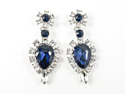 Fancy Elegant Antique Sapphire Color Drop Fashion Earrings
