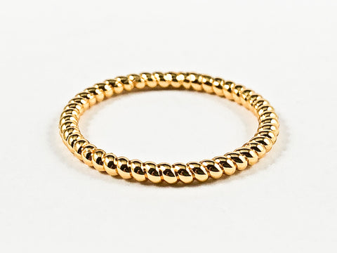 Nice Round Bead Eternity Gold Tone Brass Rings