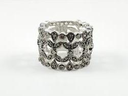 Modern & Cute Floral Brown Band Ring