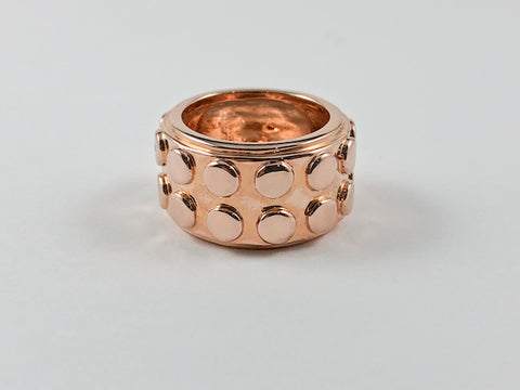 Modern Fun Rose Gold Eternity Brass Ring