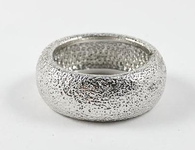 Modern Silver Eternity Brass Ring
