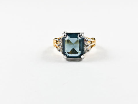 Classic Elegant Square Cut Dainty Brass Ring