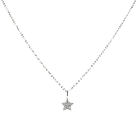 Classic Dainty Single Star Design Brass Necklace