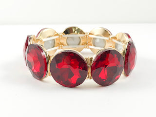 Large Round Red Stone Fashion Bracelets