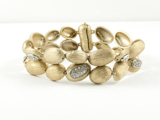 Unique Bean Design Yellow Gold Brass Bracelet