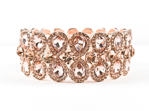 Classic Fancy Light Pink Pear Shaped Fashion Bracelet