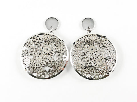 Casual Elegant Floral Bouquet Design Steel Earrings