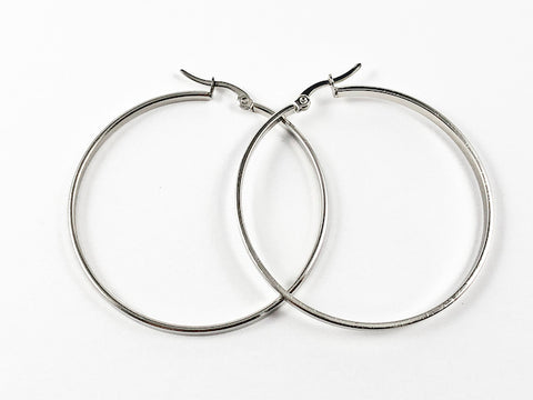 Large Hoop Steel Earrings