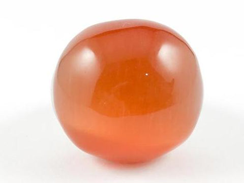 Elegant Large Orange Marble Stone Steel Ring