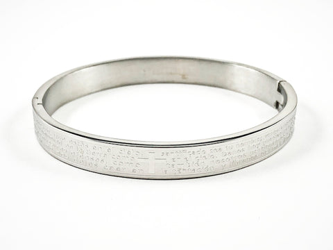 Nice Religious Lord's Prayer Spanish Steel Bangle