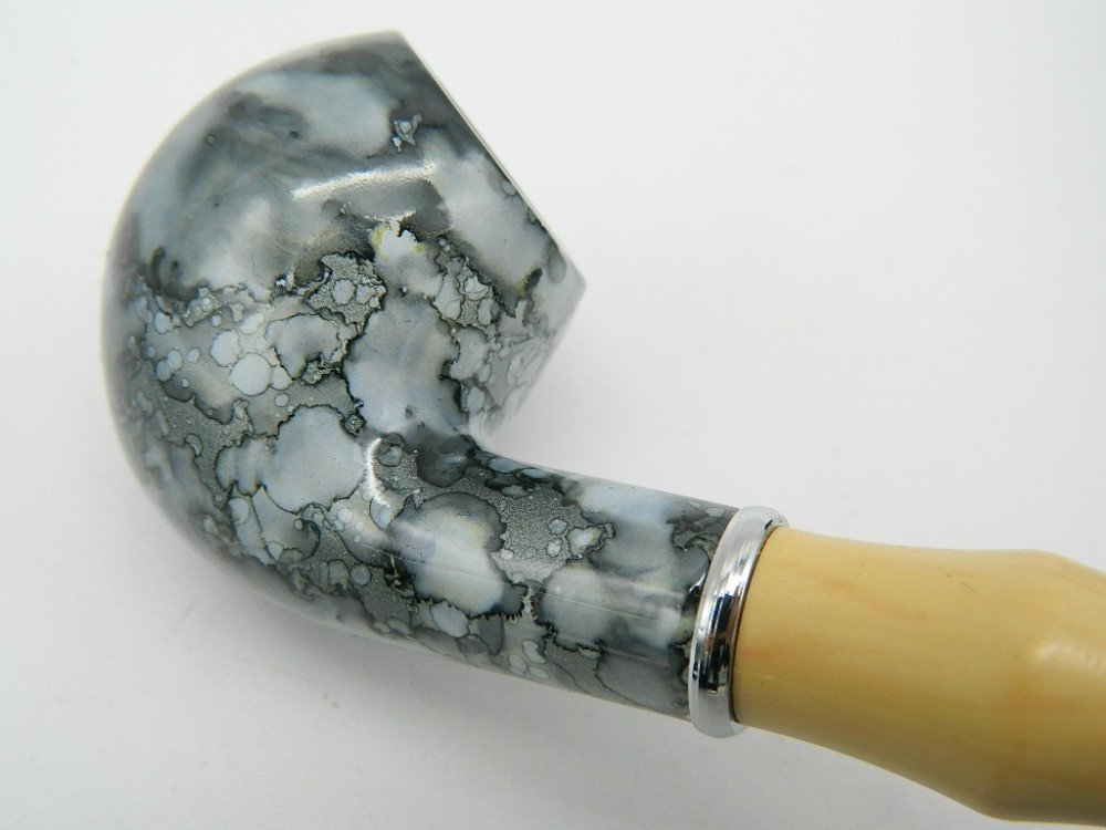 Blue Marble Resin Smoking Pipe