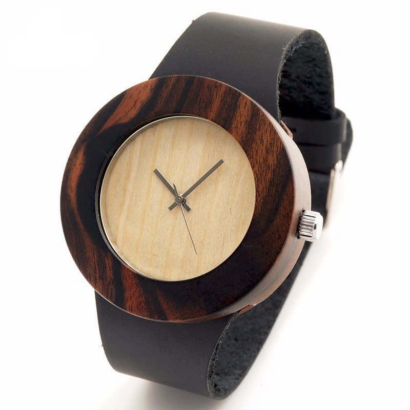 Natural Black Ebony Wristwatch