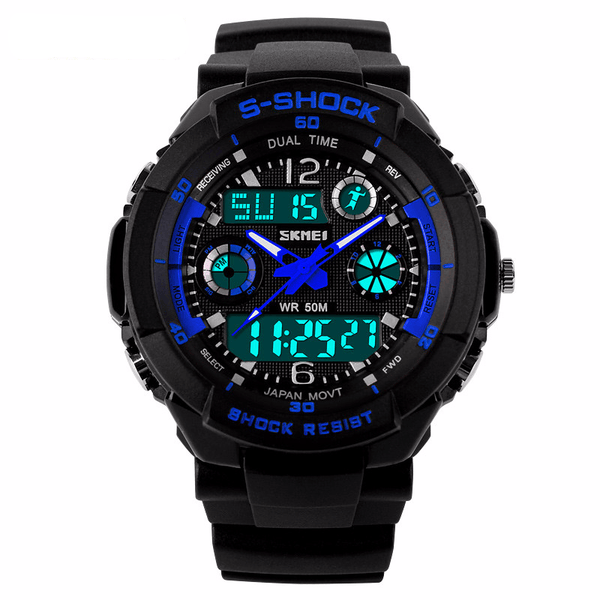 Dual Display Military Survival Watch