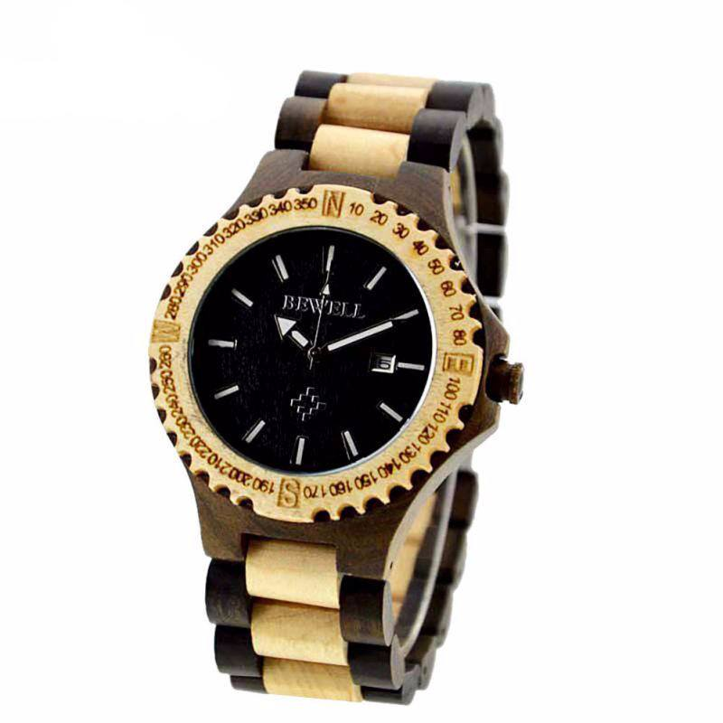 Ebony Zebra Wood Wristwatch