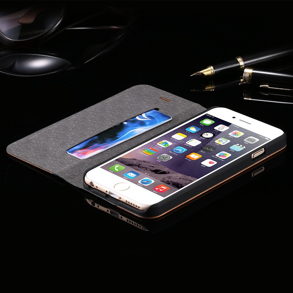 Retro Leather iPhone Flip Case