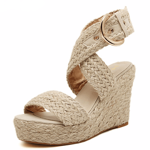 Soft Side Ankle Wrap Sandal