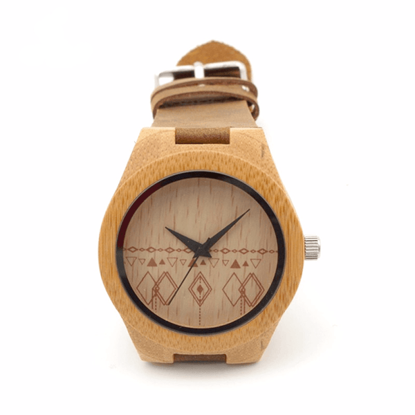 Vanilla Cream Bamboo Wristwatch