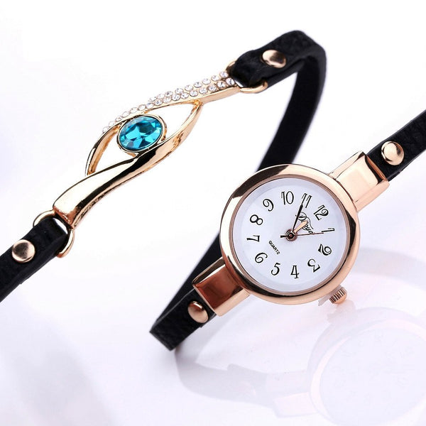 Gemstone Eye Bracelet Timepiece