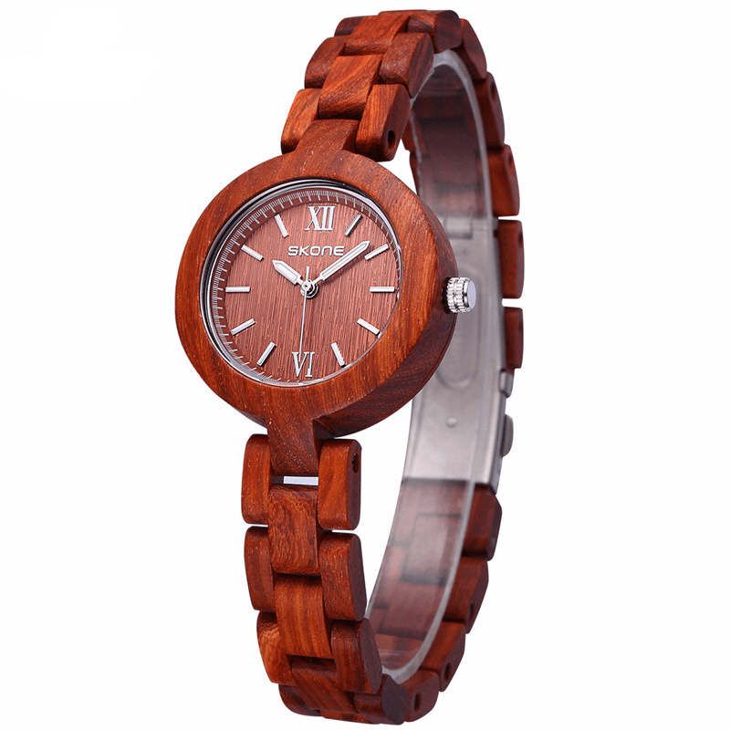 Skinny Antique Sandalwood Wristwatch