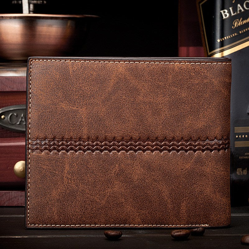 Classic Pattern Vintage Leather Wallet