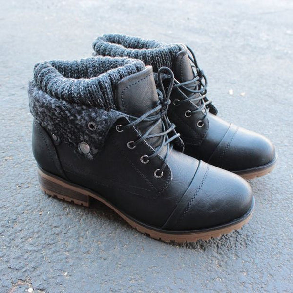 Womens Charcoal Sweater Boot