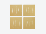 Night You LeftCoasters (Gold) S/4