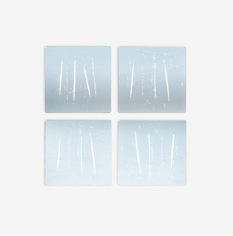 Night You Left (Silver) Coasters: Set 4