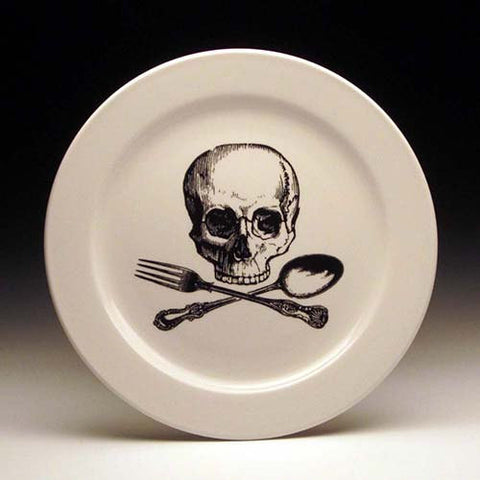 Plate: Skull and Cross Utensils