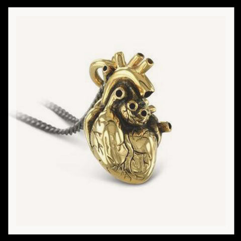 Gold Plated Heart Necklace Large