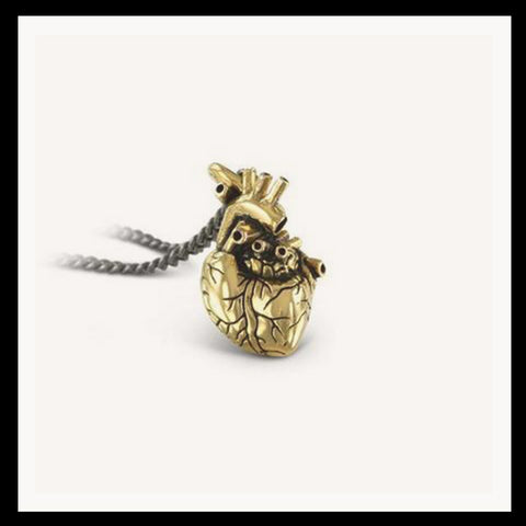 Gold Plated Heart Necklace Small