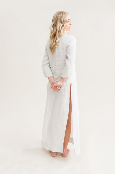 High Slit Tunic Dress made of 100% Linen