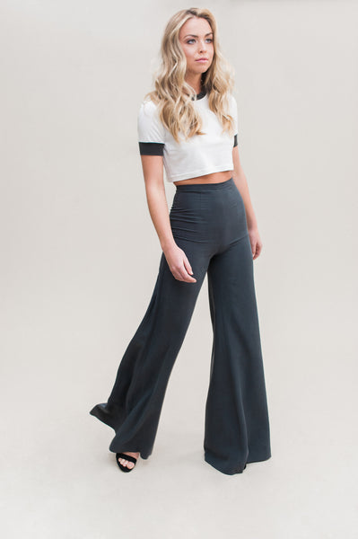 Ultra Wide Leg Pant. A high rise, wide leg pant made from 100% tencel.