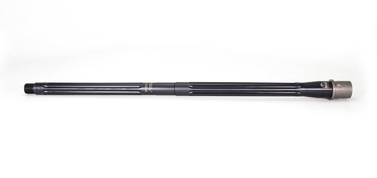 "Faxon Firearms Match Series 18"" Heavy Fluted 6.5 Grendel Mid-Length 416-R Stainless QPQ Nitride 5R Nickel Teflon Extension Barrel"