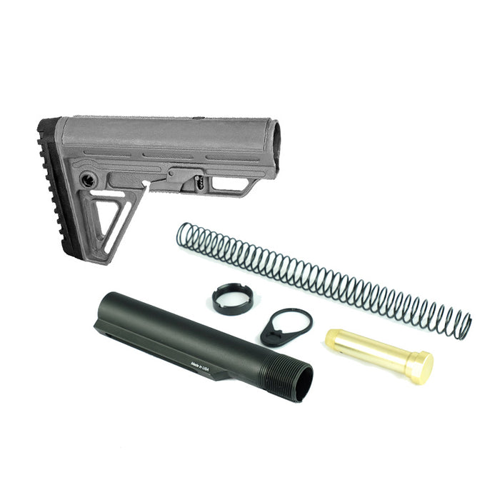 Trinity Force Alpha Mil Spec Stock & Buffer Kit - Grey