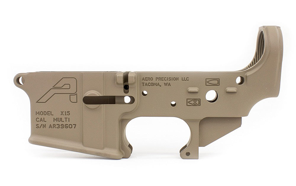 Aero Precision AR15 Stripped Lower Receiver, Gen 2 - FDE Cerakote