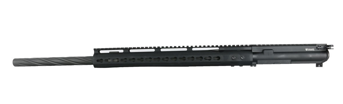 "BCA AR-15 Complete Upper Assembly, 24"" 4150 Parkerized Heavy Barrel, Spiral Fluted, .223 Wylde, Rifle Length Gas System, 1:8 Twist w/ Lightweight Keymod - NON-THREADED"