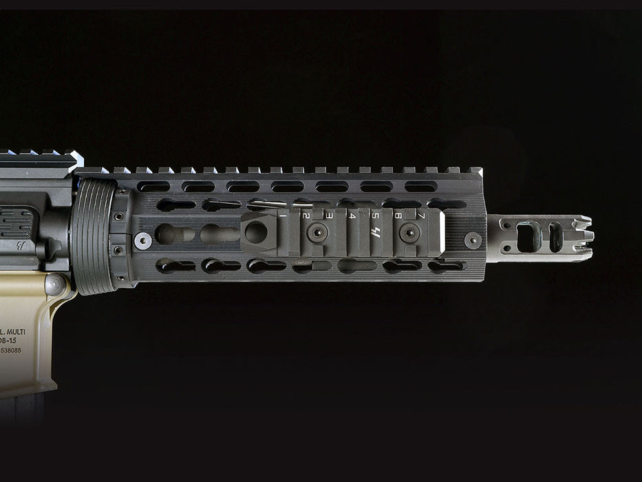 Strike Industries 7-Slot Link Rail Section w/ QD Mount (M-LOK & KeyMod Compatible) - Black