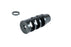 NBS .223/5.56 1/2-28 TPI Three Port Muzzle Brake - Black Oxide
